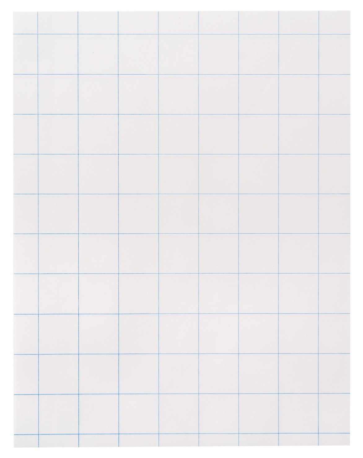8-1/2 X 11 Graph Paper, 1 In. Rule, White, 15#, Two Sides - 500/Ream