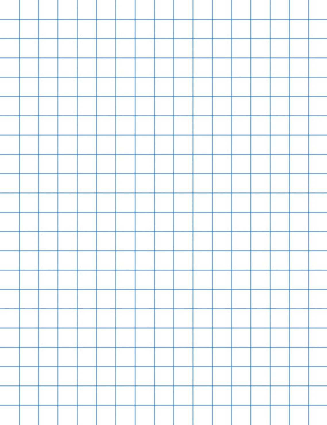 8-1/2 X 11 Graph Paper, 1/2 Rule, White, 16#, Two Sides - 500/Ream