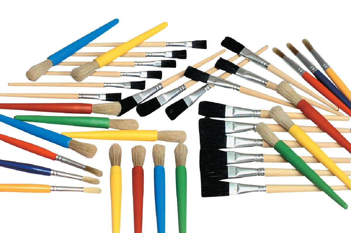 Young Artist Assortment Brushes, 5 Sizes - 36/Set