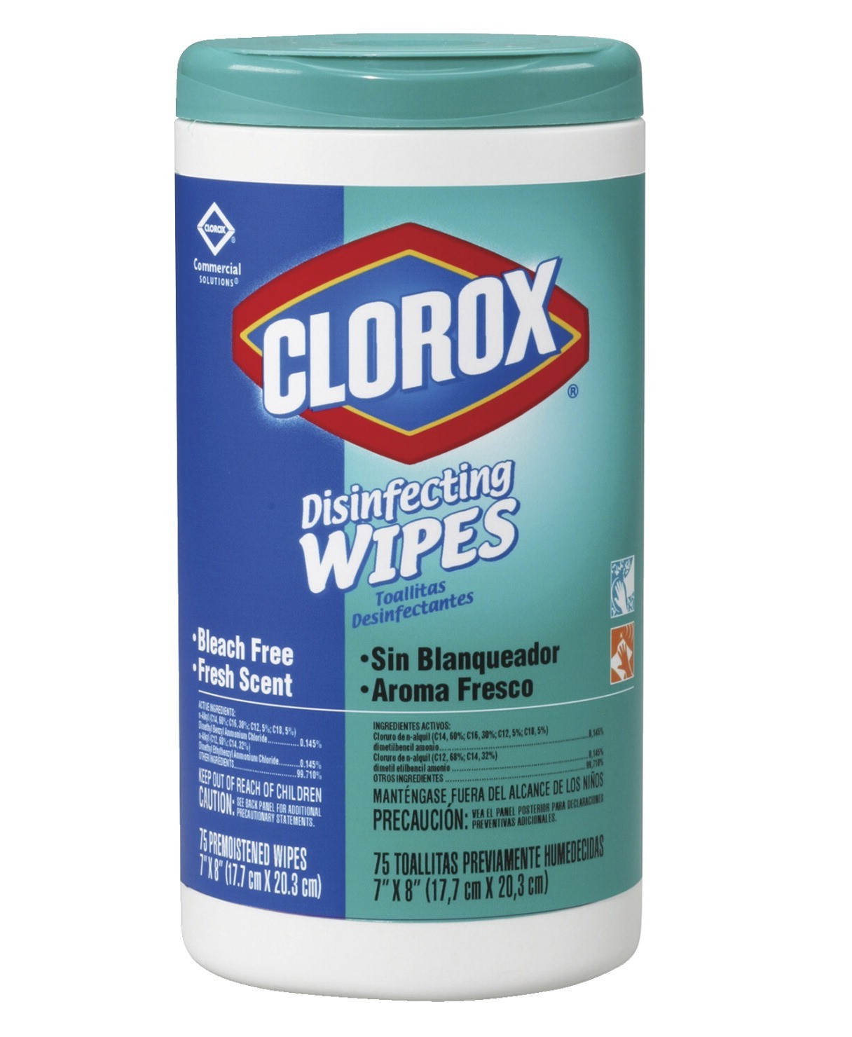 Clorox Disinfecting Wipes Fresh Scent - 75 Wipes/Container - 6/Case - 15949