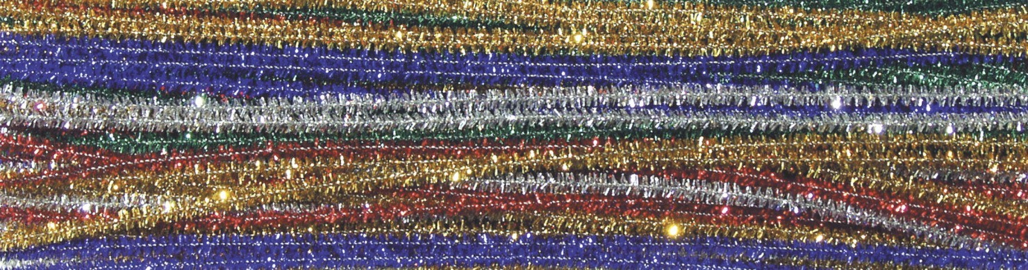 "Jumbo Sparkle Pipe Cleaners 12"" - Assorted Colors - 100/Pkg"