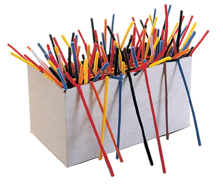 "Pipe Cleaners 6"" - Assorted Colors - 100/Pkg"