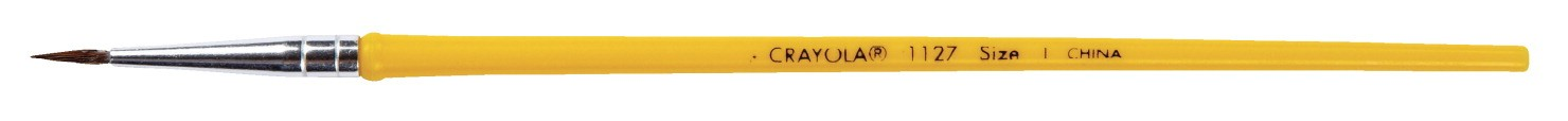 "Crayola Good Grade Camel Hair Round Brush - 3/4"" Hair Length: No.1127 - Size 7"