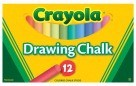 Crayola Drawing Chalk, Assorted Colors - 12/Set