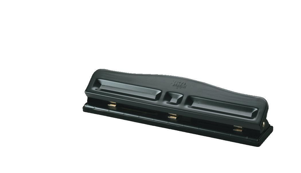 3-Hole Punch, 12 Sheets, Black