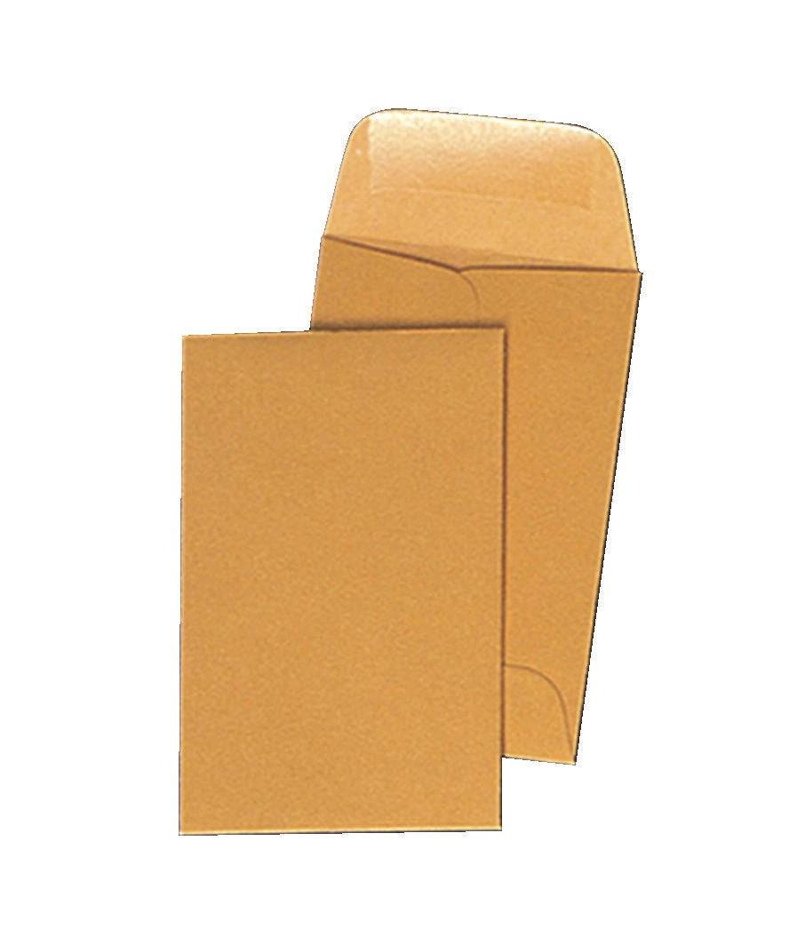 3-1/8 X 5-1/2 Coin Envelopes - 500/Pkg