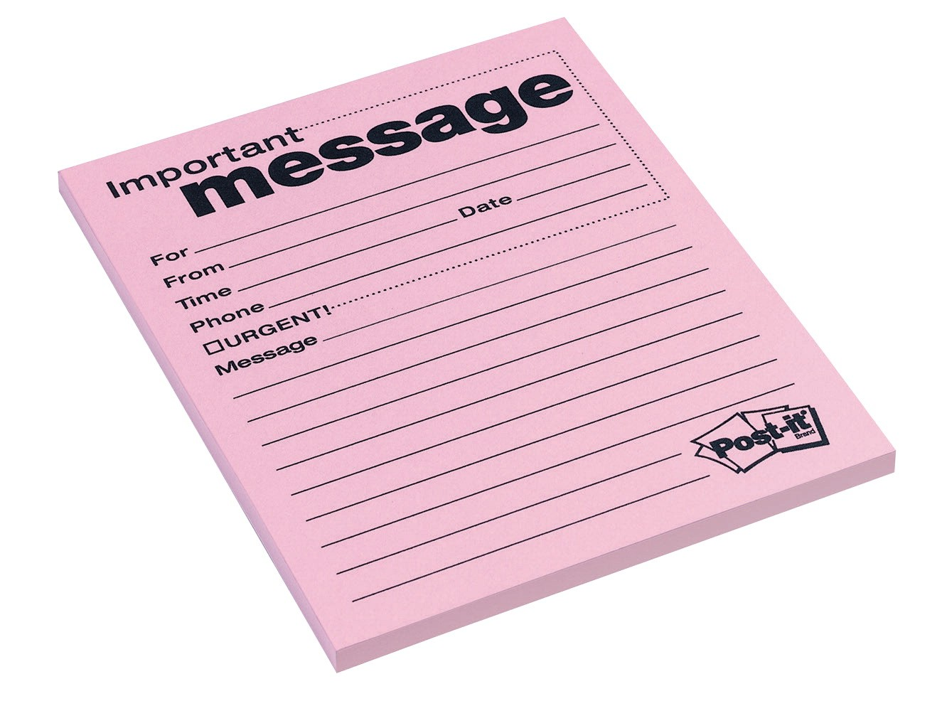 4 X 6 Post-it Telephone Message Pad, Pink - 50 Sheets/Pad