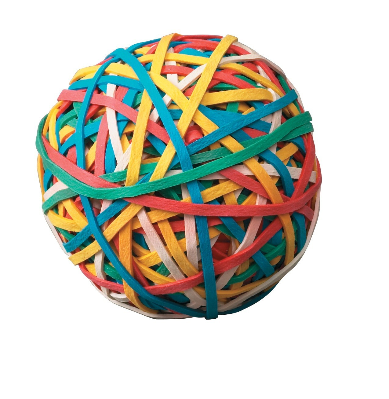 Economy Rubber Band Ball, Multiple Color