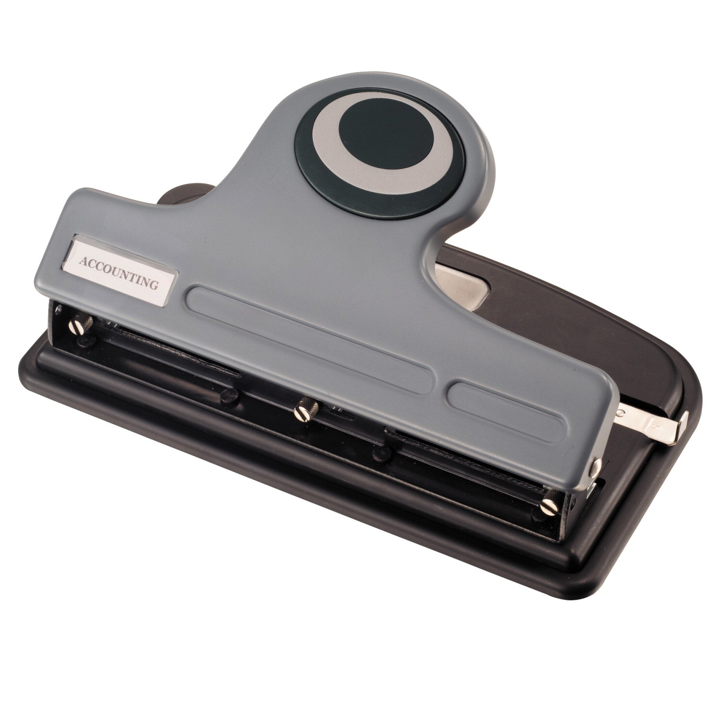 2 or 3-Hole Punch, Heavy Duty Antimicrobial, 30 Sheets, Gray and Black