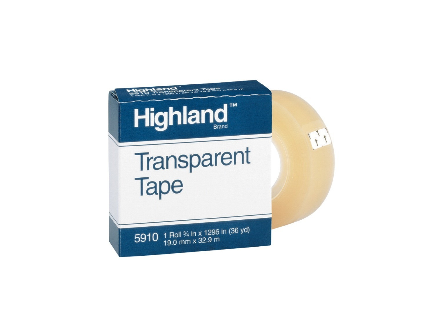 "3/4 X 1296"" Highland Invisible Tape, 1"" Core"
