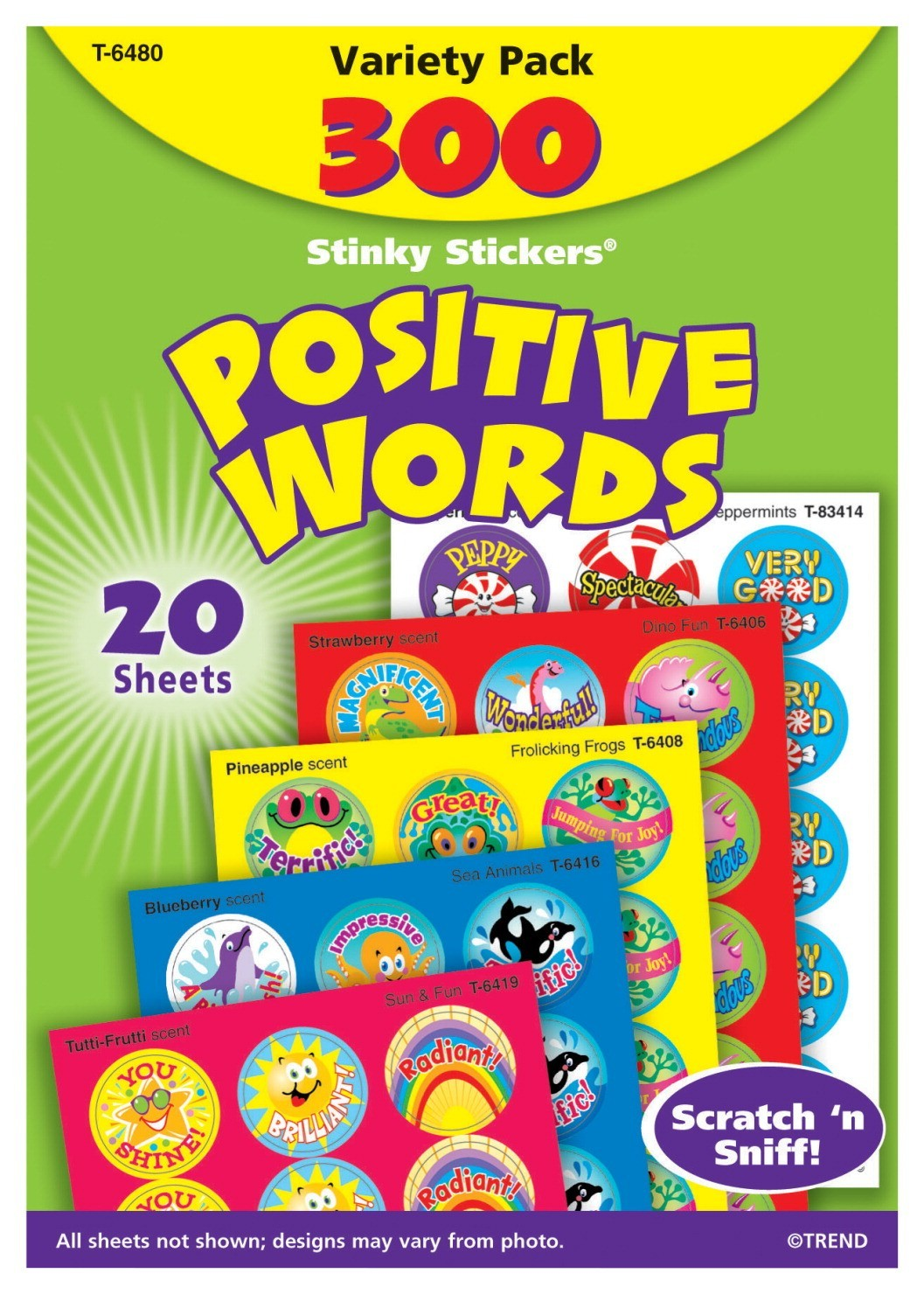 Stinky Stickers Positive Words Value Pack - 300/Pkg