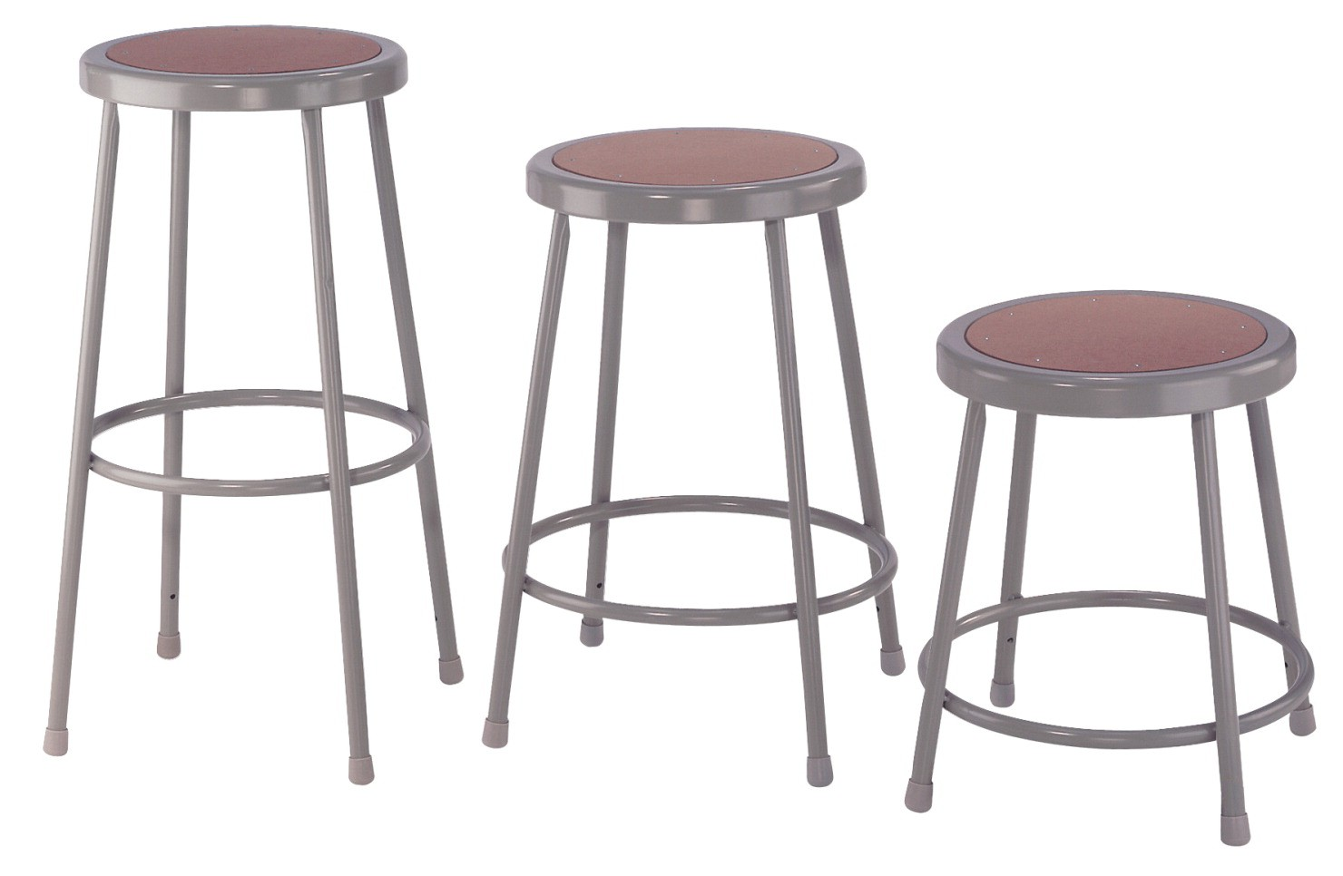 Steel Stool Fixed Height, 18 Inch