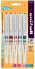 Uni-Ball Vision Roller Ball Pen, Fine Point - 5/Set - Assorted Colors