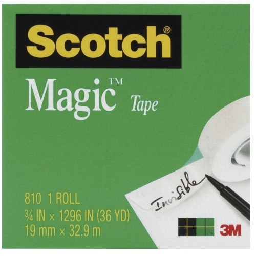 "3/4 X 1296"" Scotch Magic Invisible Tape - Boxed Refill Roll, 1"" Core, Transparent"