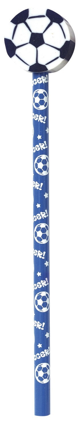 Sport Pencils with Ball Erasers, Assorted Baseball, Soccer, Football, Volleyball, Basketball - 36/Set