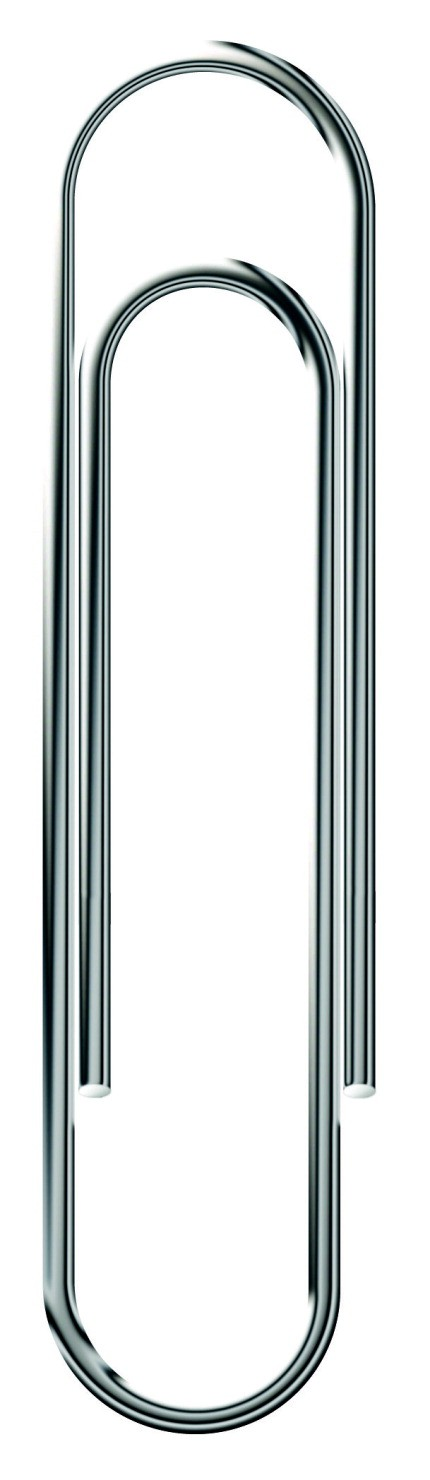 School Smart Smooth Paper Clip, Standard, 1-1/4 in L, Steel, Pack of 1000