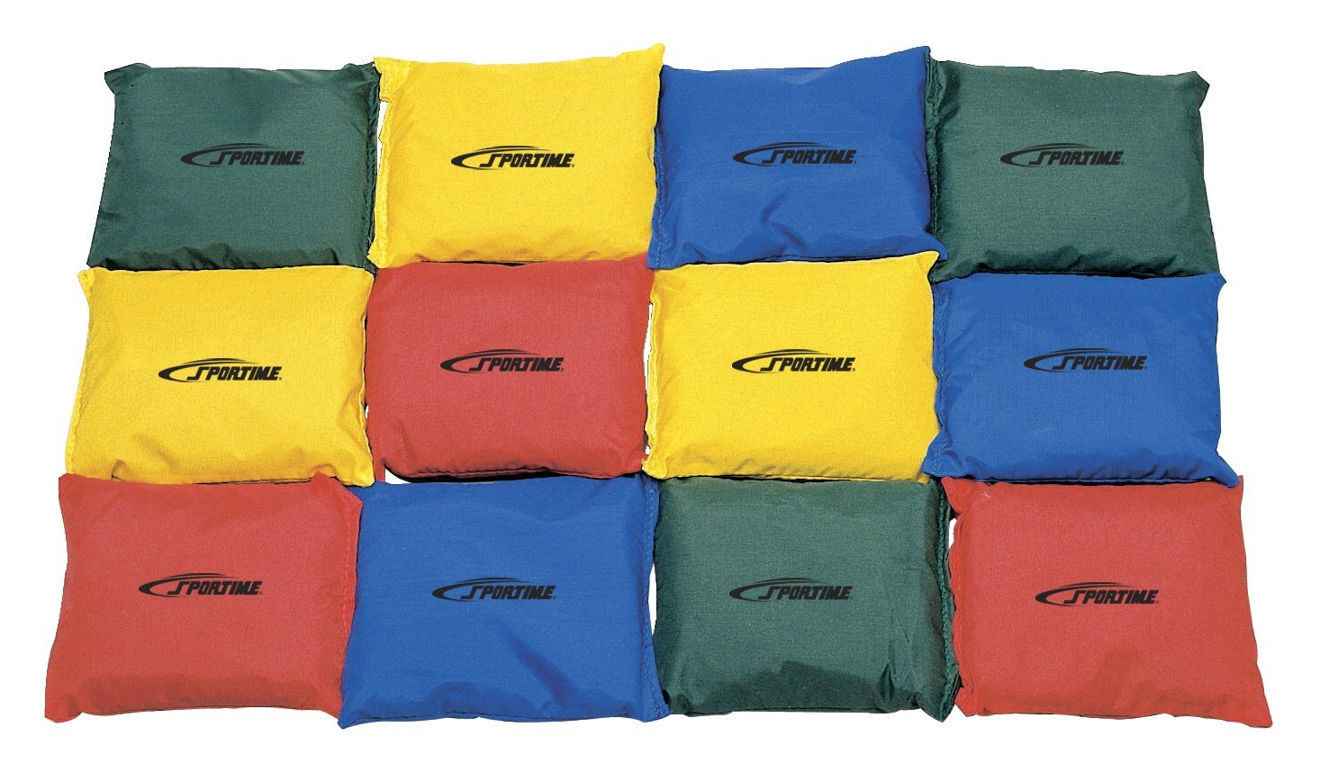 4 Inch Bean Bags, Assorted Colors - 12/Set - 1004608