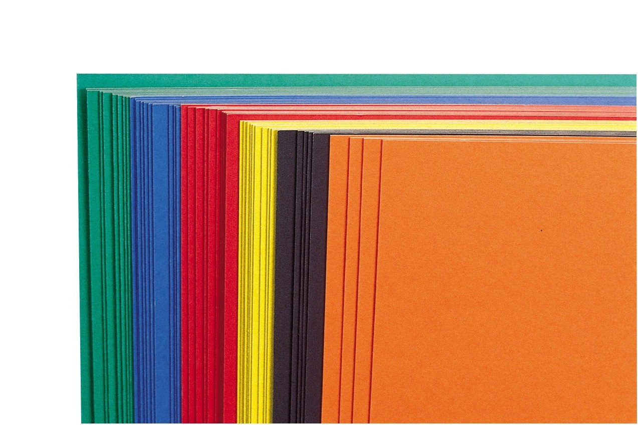 22 X 28 Display Show Card Railroad Board Assorted Colors, 14-Ply - 50/Pkg