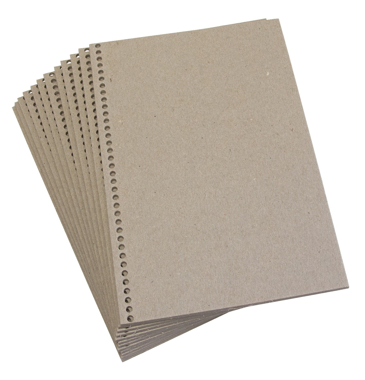 "Sax Book Making Chipboard Cover, 6 X 9"", Pre-punched for Plastic Binding Spines - 24/Pkg"