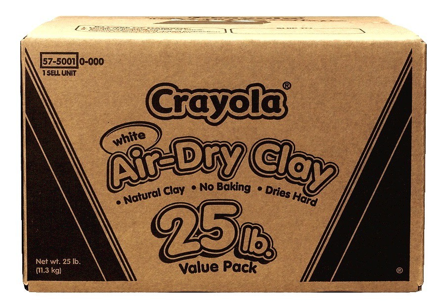 Clay Crayola Air Dry Value - White - 25#