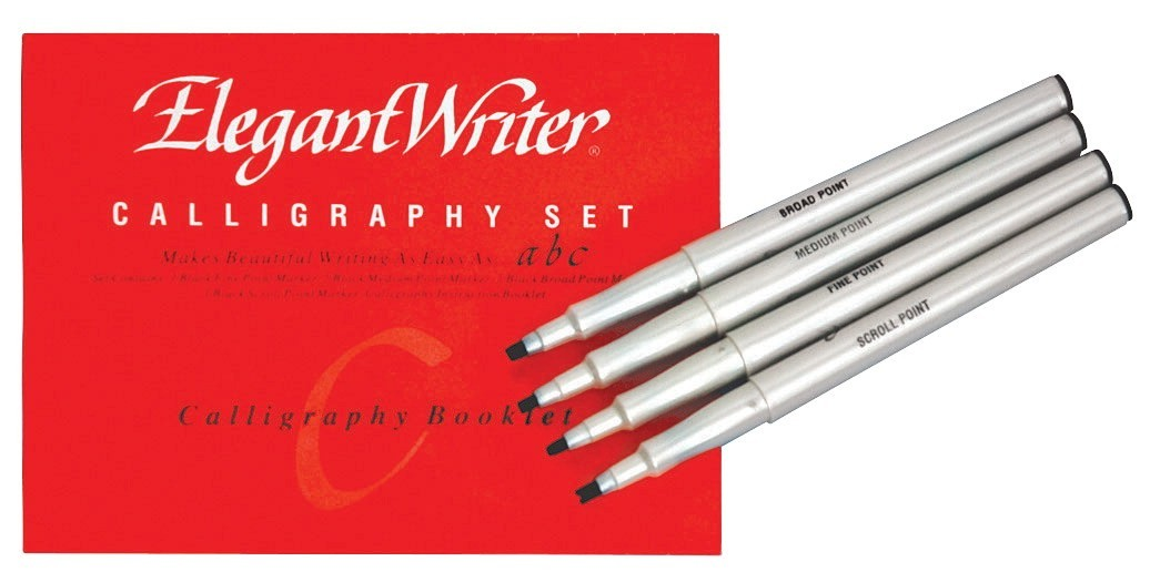 Markers Calligraphy Water Based Black Set of 4