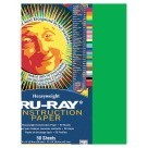 12 X 18 Tru-Ray Construction Paper - 50/Pkg - Festive Green