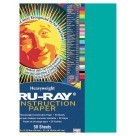 9 X 12 Tru-Ray Construction Paper - 50/Pkg - Turquoise