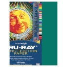12 X 18 Tru-Ray Construction Paper - 50/Pkg - Dark Green