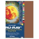 9 X 12 Tru-Ray Construction Paper - 50/Pkg - Warm Brown