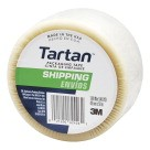 "1- 9/10"" X 54-3/5 Yds. Tartan General Purpose Shipping Tape, 3"" Core - Clear"