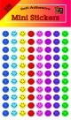 Mini Smile Stickers, Assorted Colors, 3/8 In. - 6864/Pkg