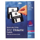 Avery 6490 Removable, 3.5 Diskette Labels, White - 375/Pkg