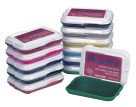 Washable Stamp Pad, Non Toxic, 2-7/8 X 2 - Assorted Colors - 18/Set