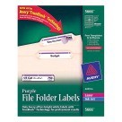2/3 X 3-7/16, Avery 5666 File Folder Labels, Purple - 750/Pkg
