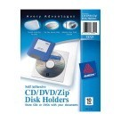 Vinyl Self Adhesive Zip CD DVD Pockets - Clear - 10/Pkg