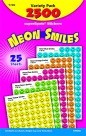 Neon Smiles Sticker Variety Pack - 2500/Pkg
