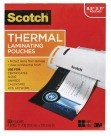 Laminating Pouch, 8-1/2 X 11 In., Clear, Use with Thermal Laminators - 50/Pkg