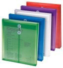 Envelope, String and Button Closure, Letter, Heavy Duty, Assorted Colors - 5/Pkg