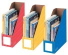 4 Inch Bankers Box Magazine File, Assorted Primary Colors - 3/Pkg