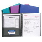 C-Line Polypropylene 8 Pocket Spiral Bound Portfolio with Clear-View Cover - Multiple Colors