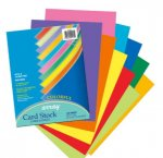 8-1/2 X 11 Card Stock, Array 65 lb, HW - Assorted Colors - 100/Pkg