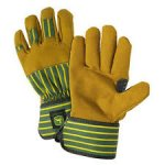 Work Gloves, Premium, Leather Palm, Safety Cuff, Large - Pair