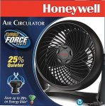 "Air Circulator Fan, Honeywell Turbo Force Black, 9"" - HT900"