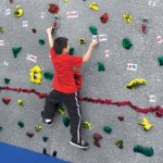 Everlast Climbing Magna Traverse Wall Package - Climbing wall with magnetic surface, GroperzRout hand holds, word and math magnets.
