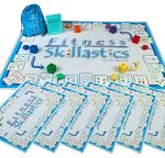 Fitness Skillastics Game Board & Supplies (Grades 1 - 8) Includes: PVC Activity Mat, 6 Dice, 6 Beanbags, 6 Mini Game Mats, Instruction Manual And Storage Bag