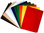 CPE EZ Solid Stiffened Felt, 9 X 12 in, Assorted Color, Pack of 25