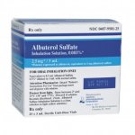 Albuterol Inhalation Solution .083% 25/ box 90720
