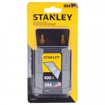 Stanley Utility Knife for Replacement Blade, Carbon Steel Blade - 100/Pkg
