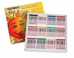 Cray-Pas, Sakura Junior Oil Pastel Artist Color Pack, 12 Assorted Colors, 432/Set