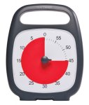 Time Timer Light-Weight Plus Timer, 5-1/2 X 7 in, Red